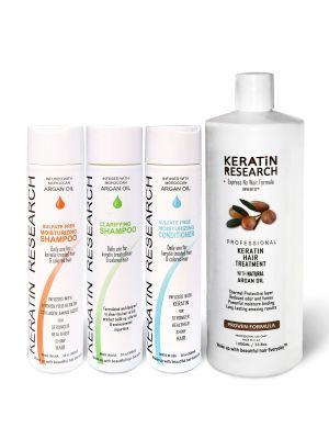 Original Formula XL Set 1000ml Keratin Hair Treatment With Moroccan Argan oil 4 Bottles kit