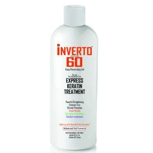 INVERTO 60 Advanced Gel Keratin Hair Treatment Formaldehyde Free ,1000ml Powerful Straightening and Repairing Damaged Hair