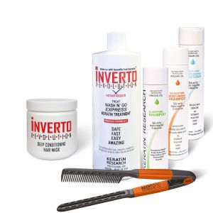 Treat Wash N Go Inverto Instant results Keratin Treatment XL Kit with comb Includes Hair Mask and much more  (Without  Formalin) Super pack