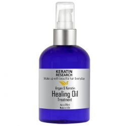 Argan & Keratin Oil Hair Healing Treatment Heals Repairs Rejuvenates Nourishes Fortifies adds shine & Conditions Hair Instantly