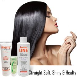 INVERTO ONE 180ml Formaldehyde-Free for LONG Hair at home Brazilian Keratin Hair Treatment Professional Results Straighten and Smooths hair