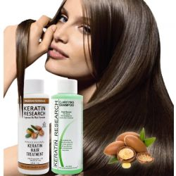 The Original Keratin Hair Treatment 120ml x 2 with Argan oil  instantly straightens, smooths, repairs, conditions, and strengthens the hair