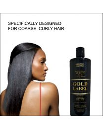 Gold Label Professional Keratin Treatment Super Enhanced Formula Specifically Designed for Coarse Curly Black, Dominican and Brazilian Hair types 1000ml
