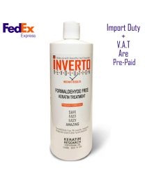 Inverto Formaldehyde Free Keratin Treatment Instant results  1000ml, Made in USA (Without  Formalin) PREPAID: DUTY, VAT, SHIPPING