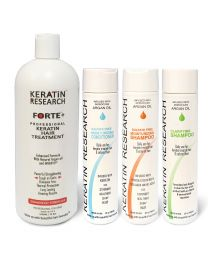 Keratin Forte Enhanced Formula complete Professional Keratin Hair Treatment Set 1000ml With Moroccan Argan Oil