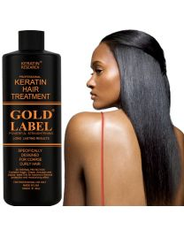 Gold Label 1000mlProfessional Keratin Hair Treatment Specifically Designed for Coarse curly Thick Hair