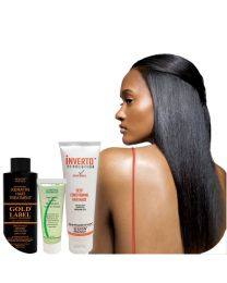 Gold Label 120ml bottle of Keratin Hair Treatment Specifically Designed for Coarse curly Thick Hair