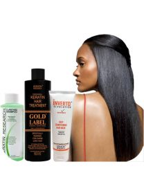 Gold Label 240ml Keratin Hair Treatment Specifically Designed for Coarse curly Thick Hair