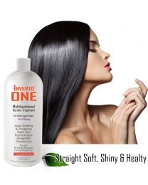 INVERTO ONE 1000ml Advanced Keratin Hair Treatment Formaldehyde Free  repair damaged Hair Results are straight smooth and super shiny hair