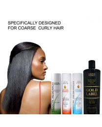 Gold Label Professional Keratin Treatment  X Large Kit Super Enhanced Formula Specifically Designed for Coarse Curly Black, Dominican and Brazilian Hair types