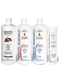 Кератин для лечения волос. XXL Набор 4 бутылки