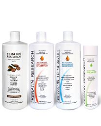 Original Formula XXL Set 1000ml Keratin Hair Treatment With Moroccan Argan oil 4 Bottles kit