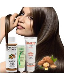 The Original Keratin Hair Treatment 120ml Kit  with Argan oil  instantly straightens, smooths, repairs, conditions, and strengthens the hair