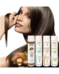The Original Keratin Hair Treatment Large Set with Argan oil instantly straightens, smooths, repairs, conditions, and strengthens the hair