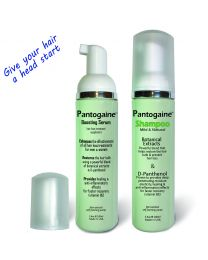Pantogaine Shampoo & Serum designed to boost & increase effectiveness of Minoxidil (Rogaine TM) and hair loss treatments Broad formula contains natural ingredients proven to aid growth thicken restore hair