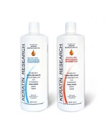 XL2 Sulfate free shampoo & moisturizing conditioner 2 x 1000ml bottles set with Moroccan Argan oil