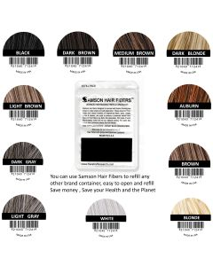 Samson Hair building fibers REFILL 25 grams suitable for all brands
