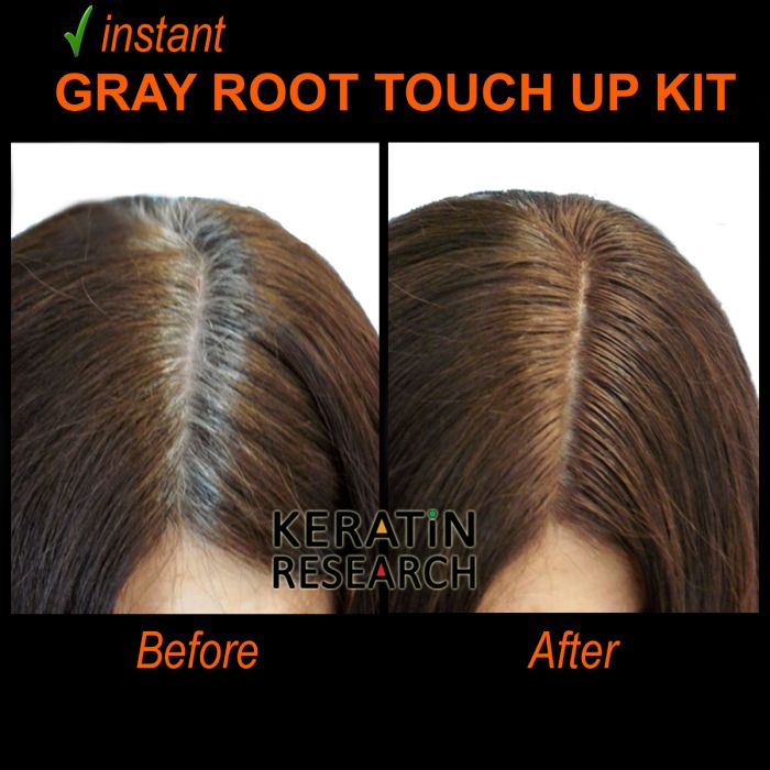 Gray Hair Root Touch up and Concealer 7ml Dual Brush